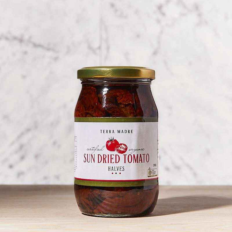 Tomato Sun-dried halves in oil Organic TM 12 x 340g