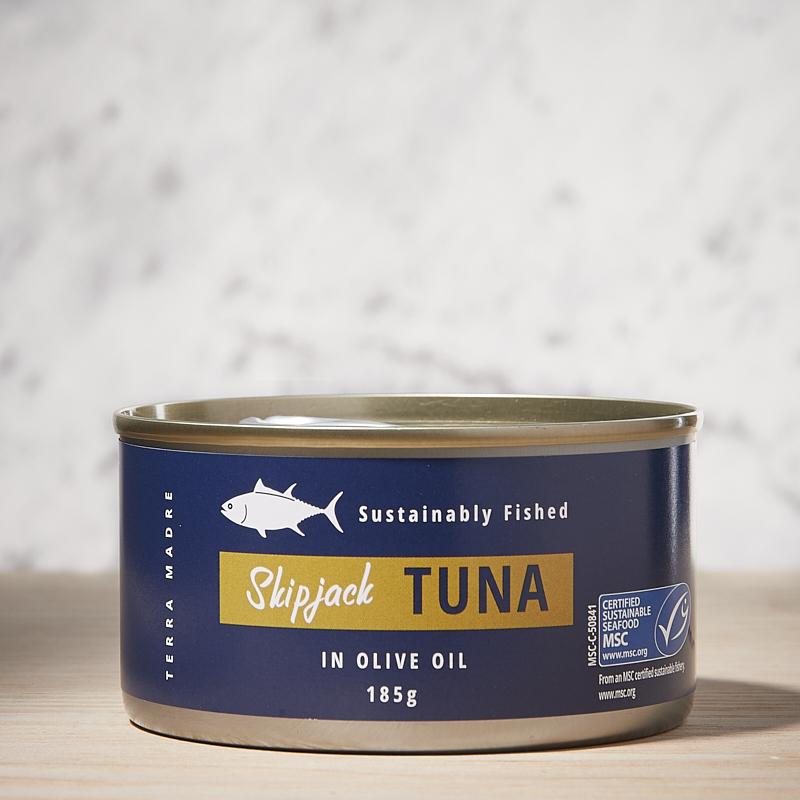 Tuna Skip Jack Chunks in Olive Oil Org Thailand 24 x 185gm