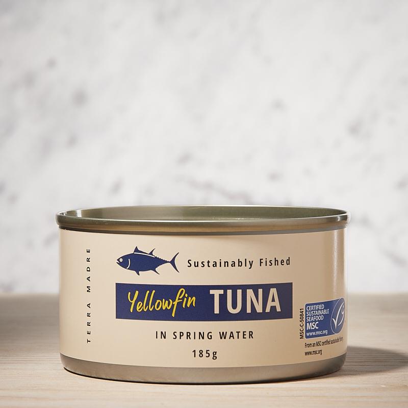 Tuna Yellow Fin Chunks in Springwater Org Thailand 24 x 185gm