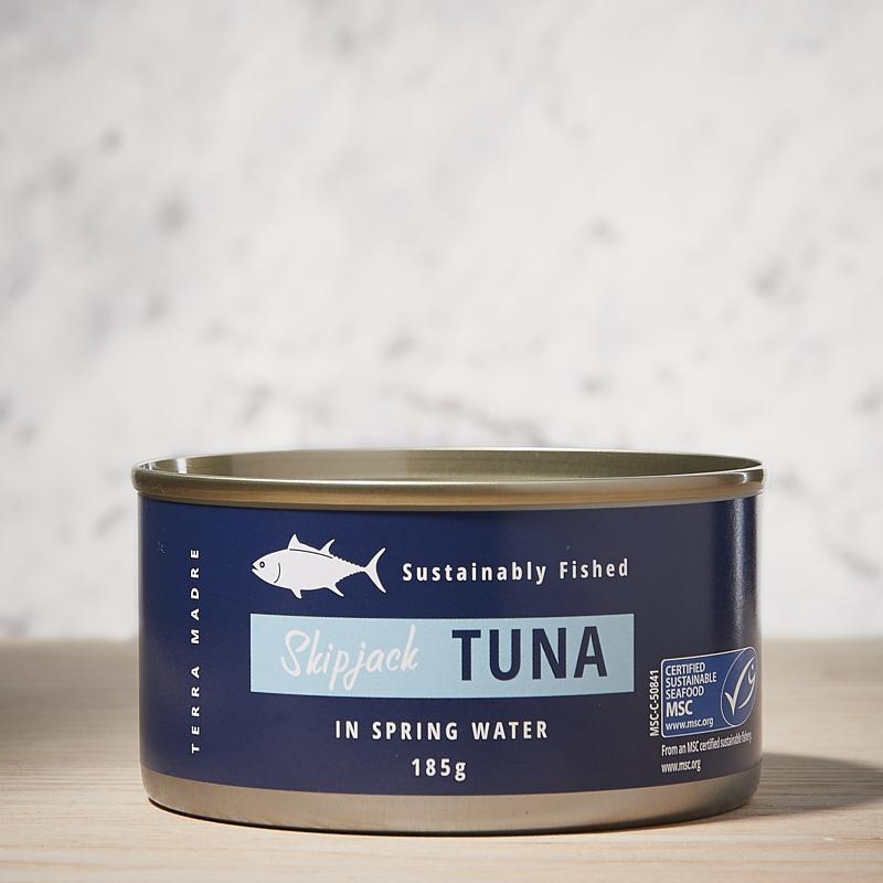 Tuna Skip Jack Chunks in Springwater Org Thailand 24 x 185gm