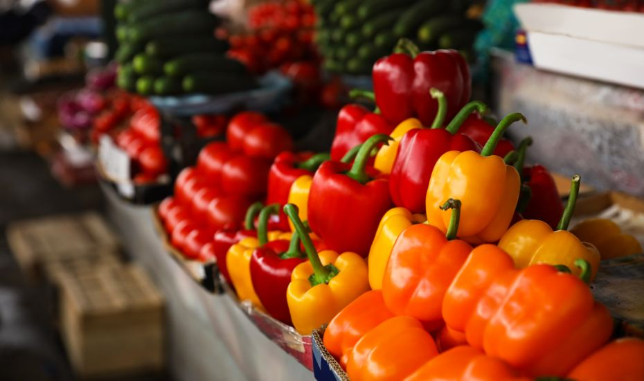 ripe vegetables at a market