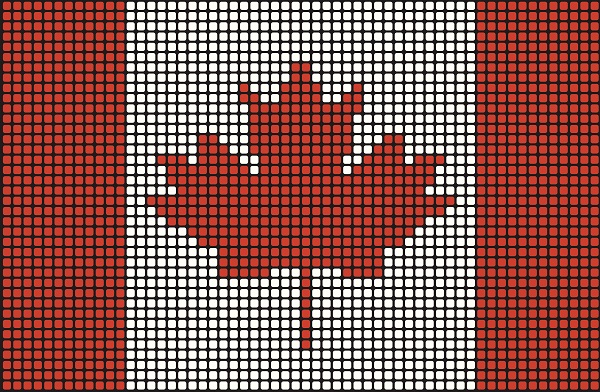 Mosaic Canadian Flag