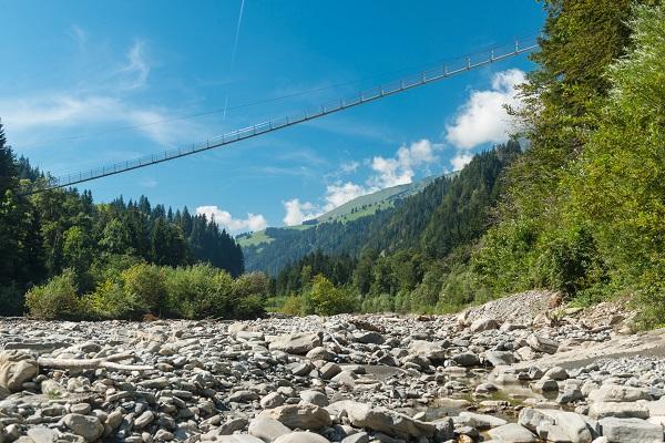 Suspension Bridge Swiss Alps