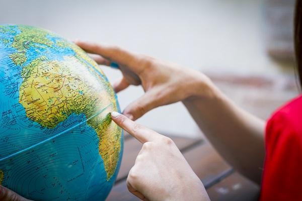 Pointing On Globe