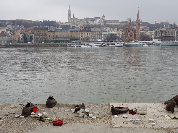Shoes along the Danube