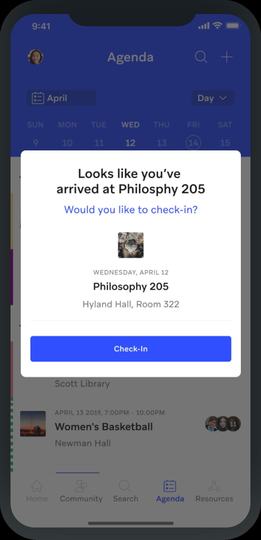 screenshot from Involvio app