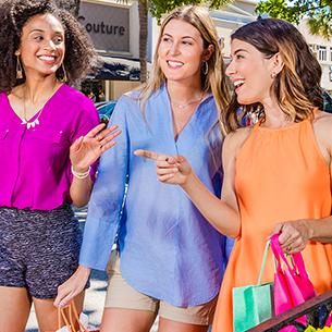 Destination Shopping Three Girls