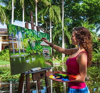 Destination Arts Culture Entertainment Woman Painting