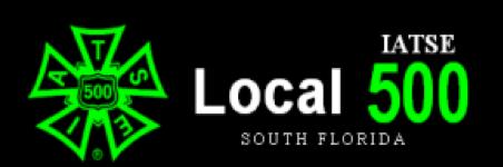 Local 500 IATSE South Florida Logo