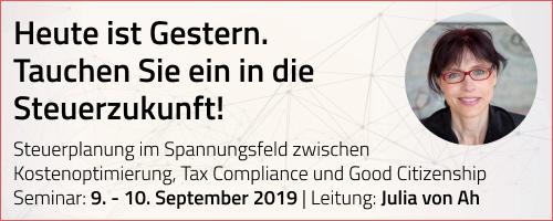 ISIS)-Seminar, Steuerplanung im Spannungsfeld zwischen Kostenoptimierung, Tax Compliance und Good Citizenship – Chancen und Risiken