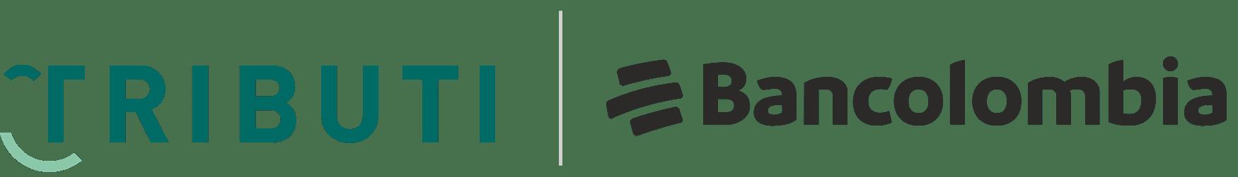 Logo tributi y bancolombia