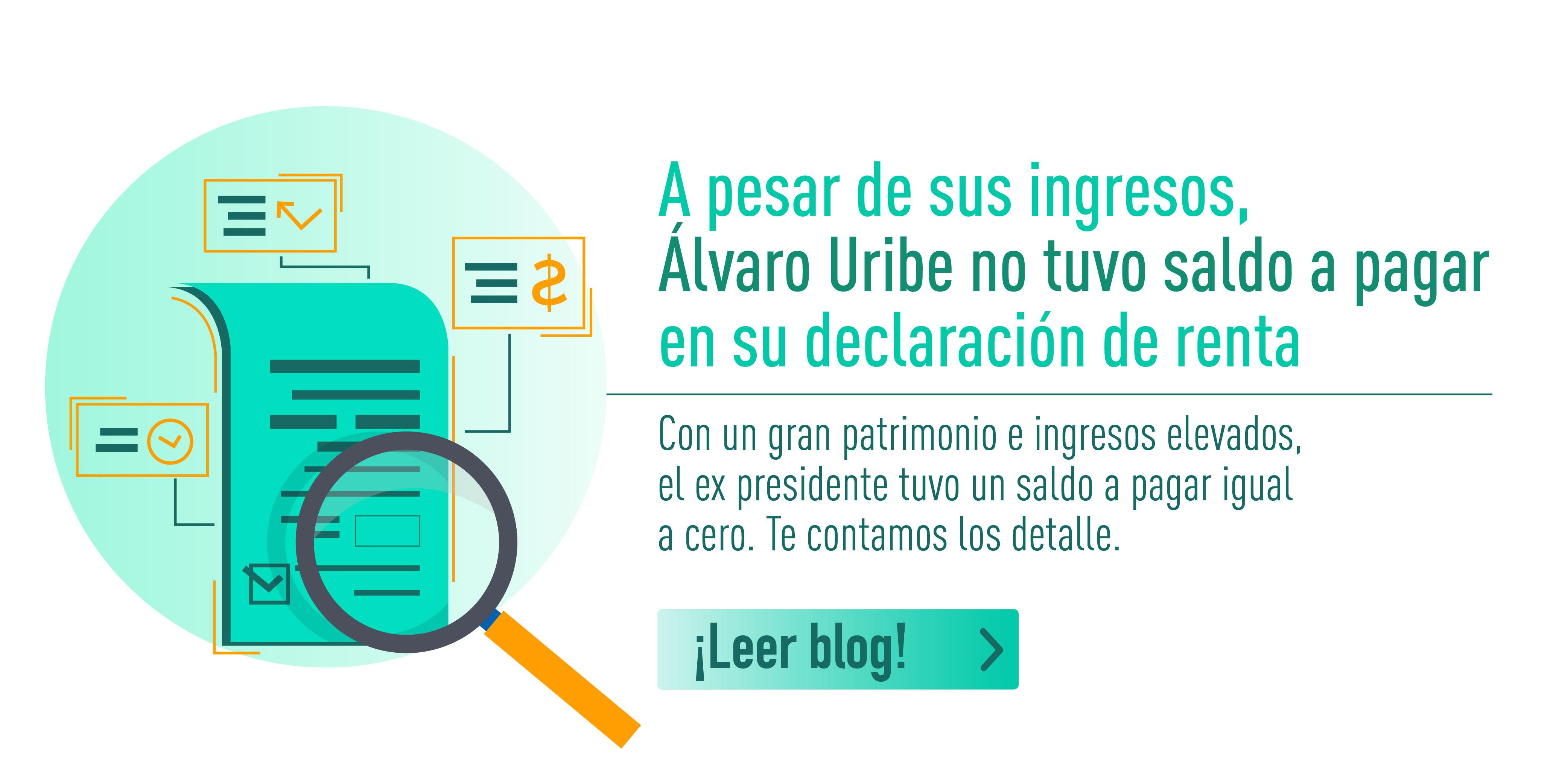 A pesar de sus ingresos, Álvaro Uribe no tuvo saldo a pagar en su declaración de renta