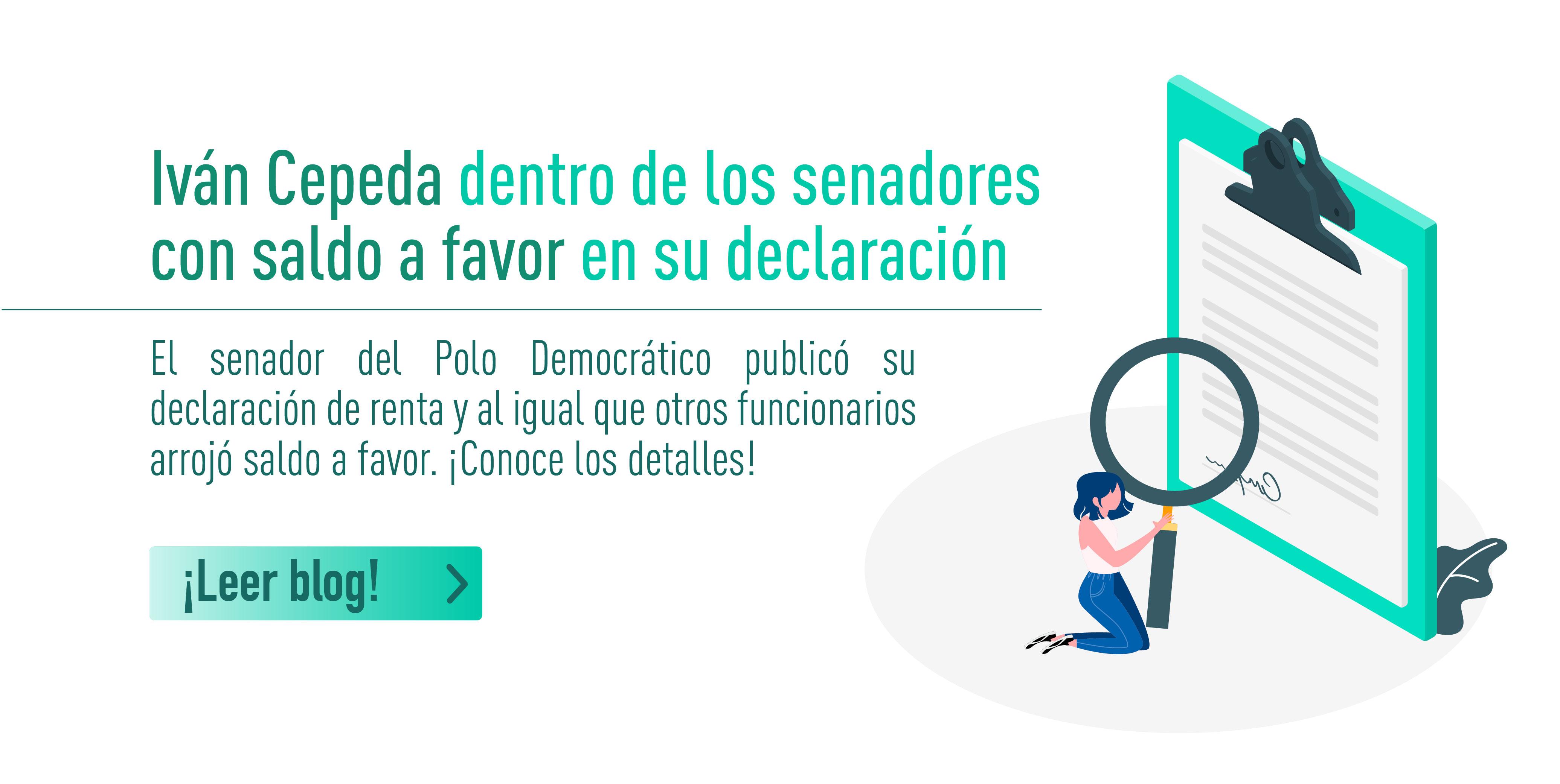Iván Cepeda dentro de los senadores con saldo a favor