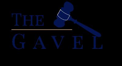 The logo for The Gavel