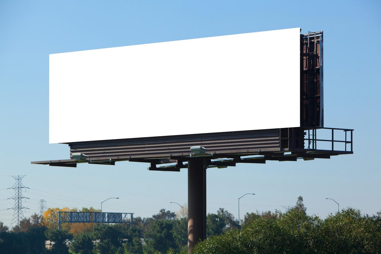 empty billboard for advertising