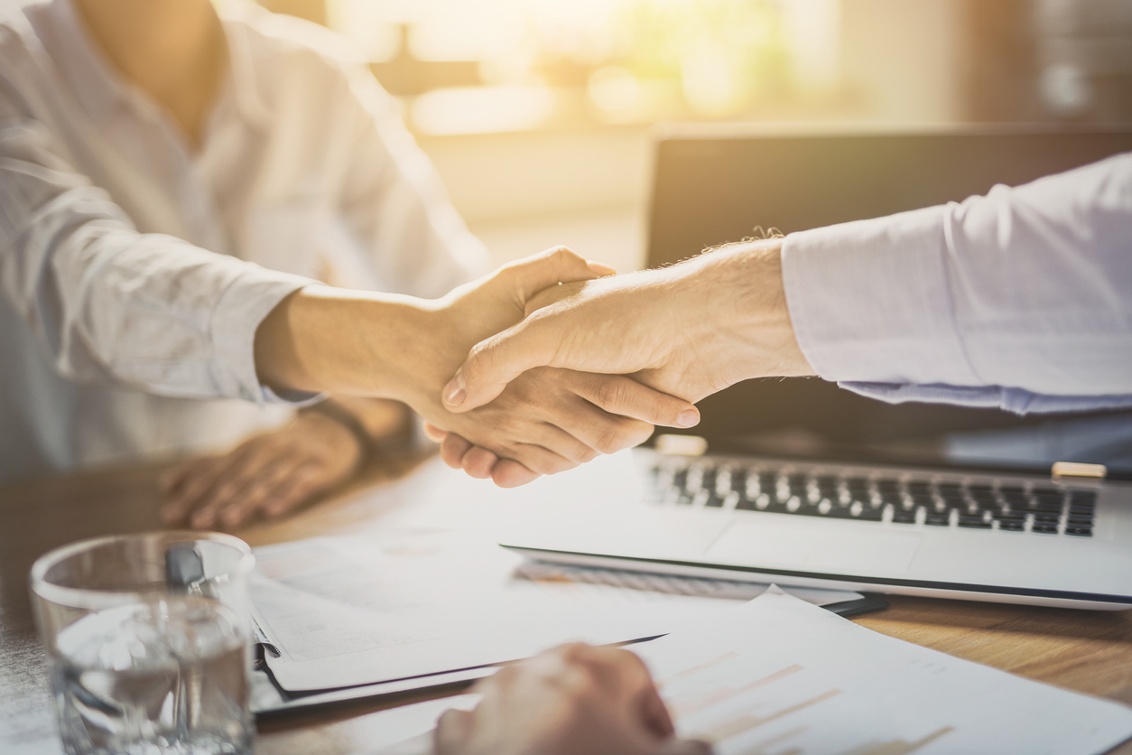 securing deal with handshake