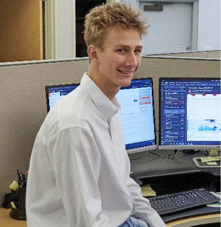 AdvanceTEC intern Matthew Burton