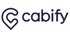 "the word ""cabify"" as a logo"