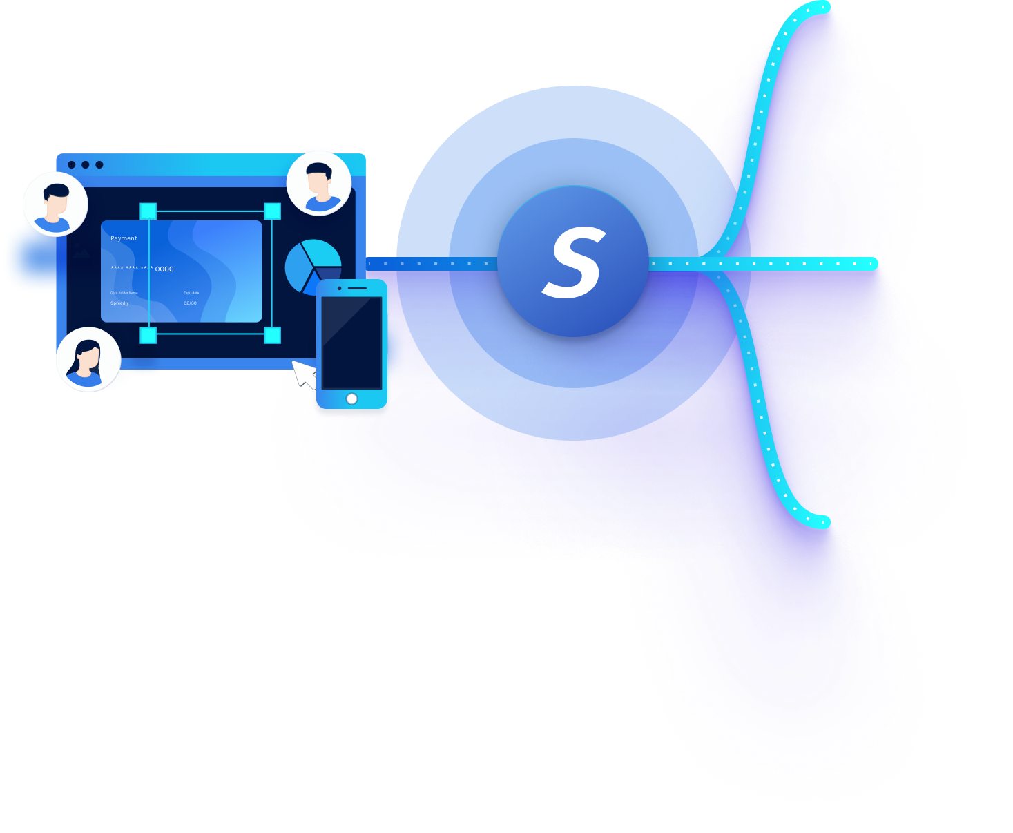 an visual representation of spreedly's payments orchestration platform