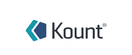 "the word ""Kount"" as a logo"