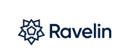 "the word ""ravelin"" as a logo"