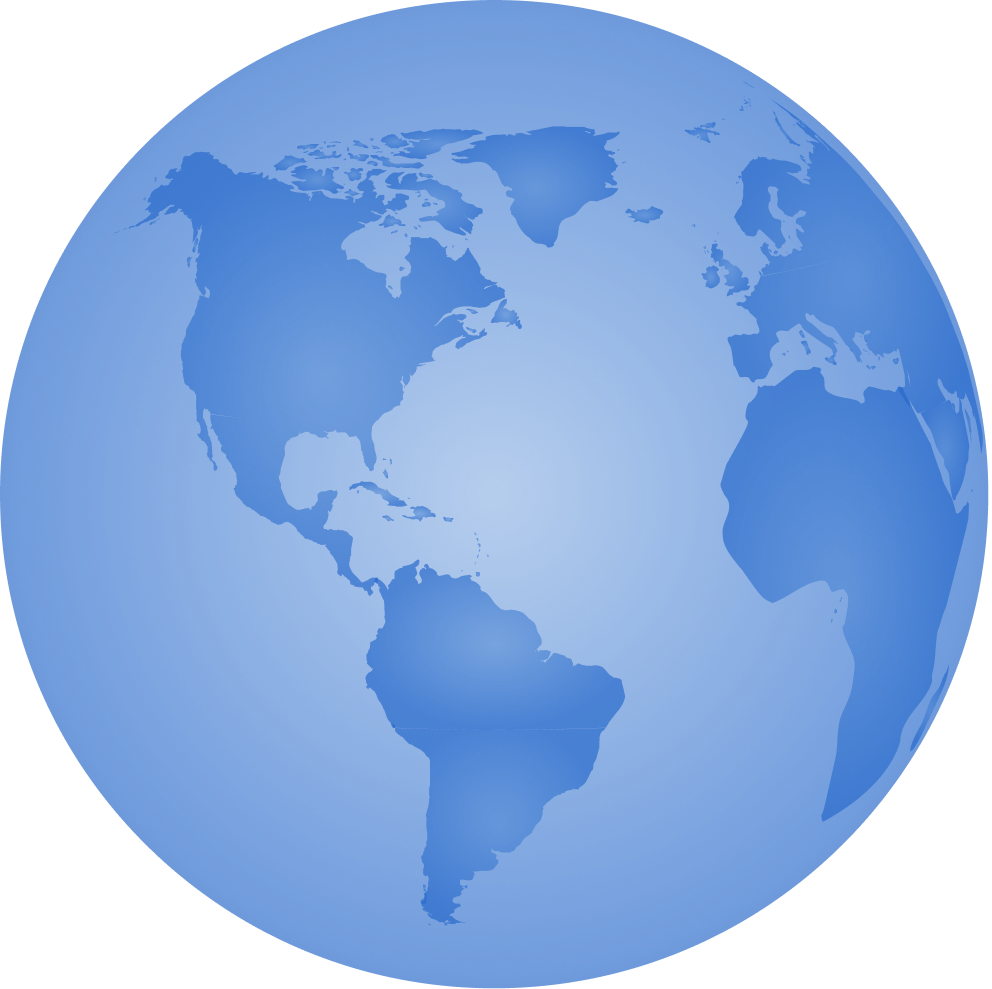an image of planet earth, in a flat blue design