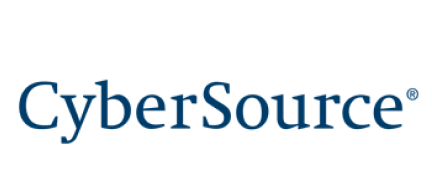 cybersource logo - the word cybersource