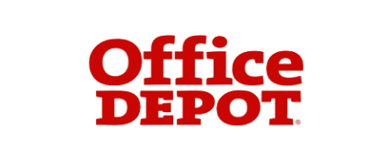 "the office depot logo. the words ""office depot"""