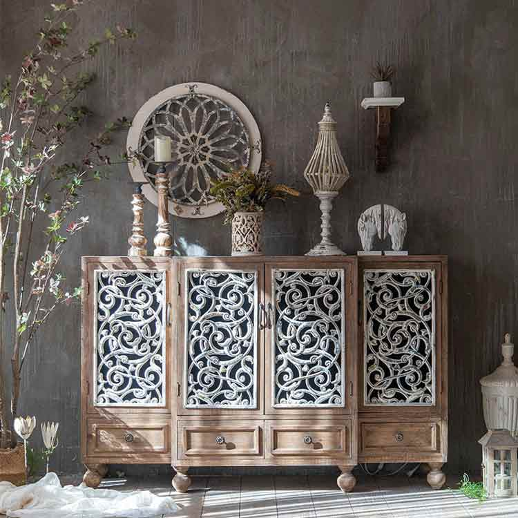 Mcogroup - French solid wood country side cabinets hand carved