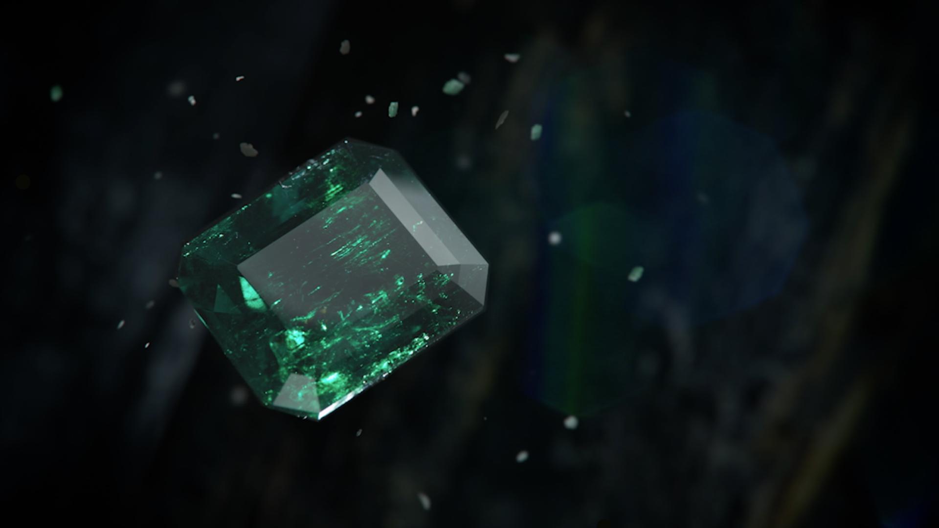Mcogroup - vivid green Emerald shape columbia