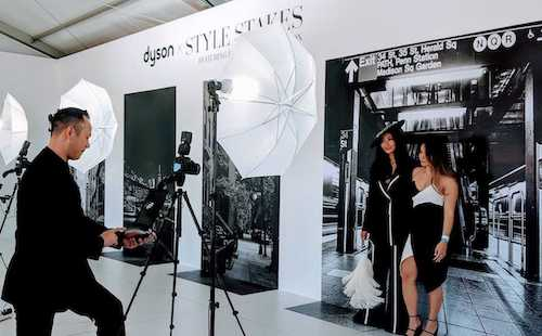 propix event staff taking photo of girl