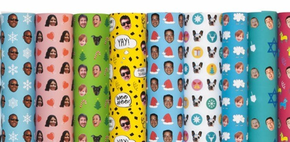 Branded Gift Wrapping Paper for Mother's Day Photo Activation