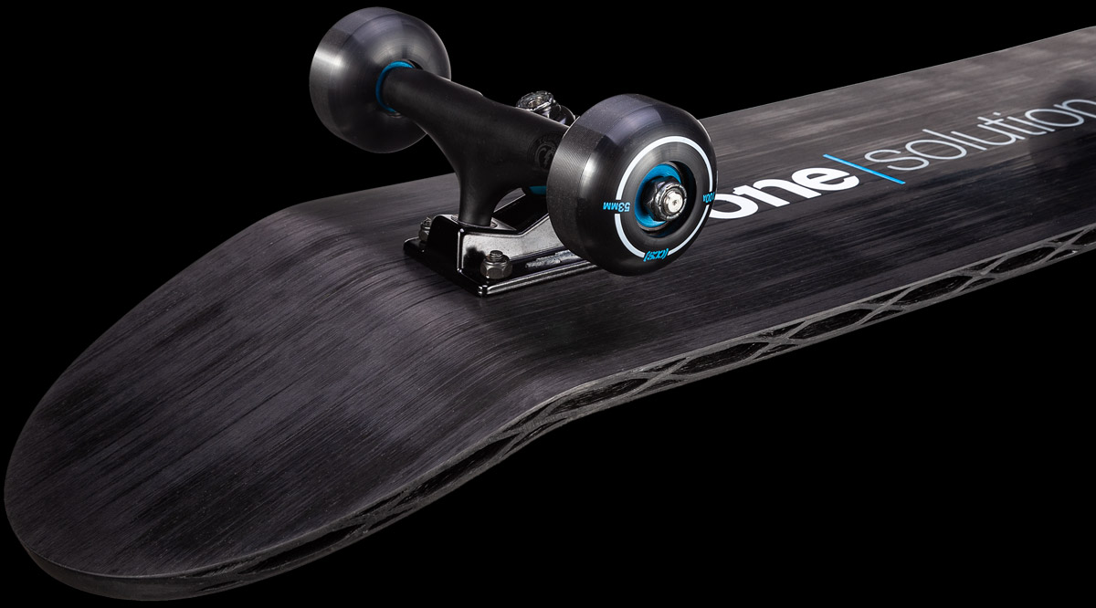 Continuous Carbon Fiber 3D printed skateboard with CF3D