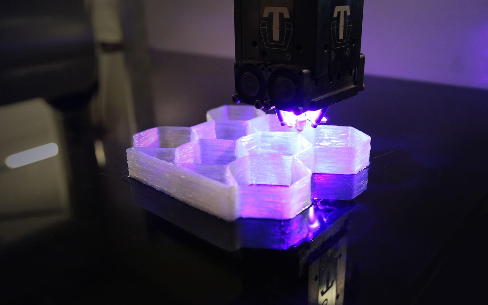 Fiberglass honeycomb quarter ellipse print with CF3D.