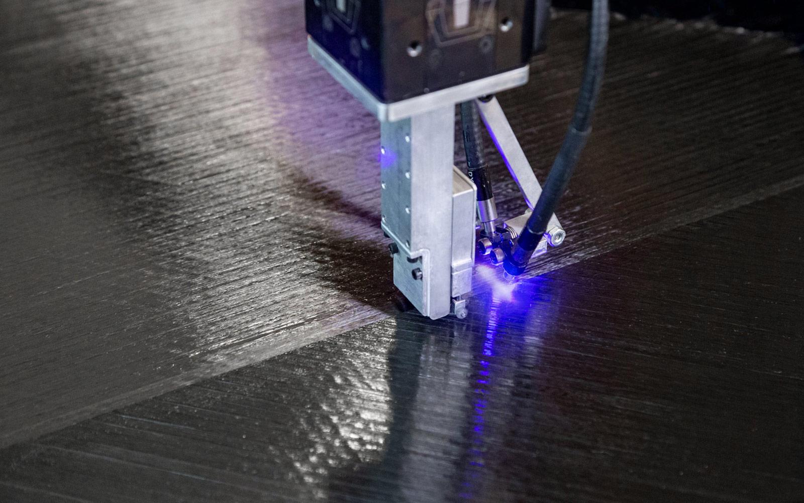 Carbon fiber multi-channel panel print.