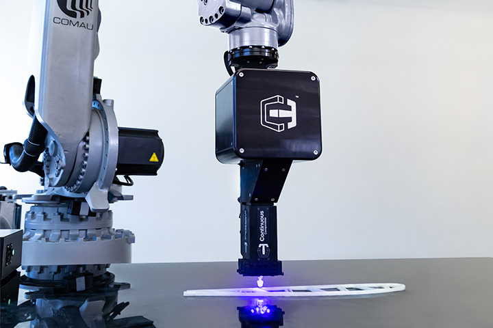 CF3D printing continuous fiberglass composite part