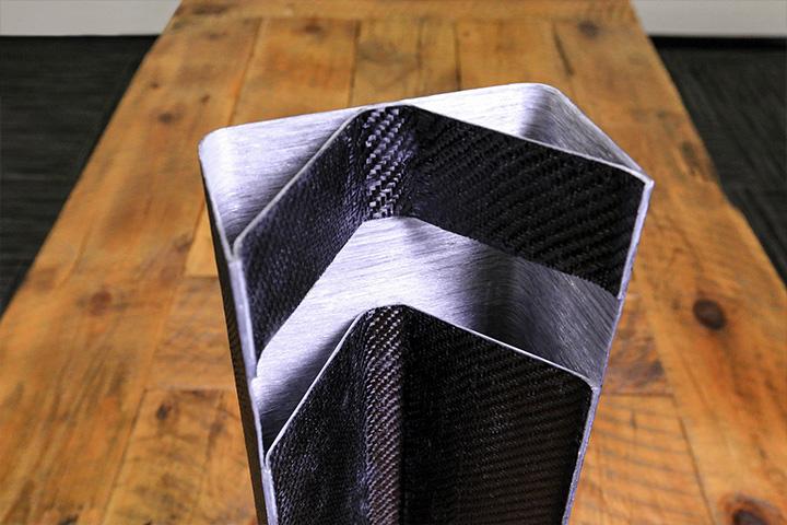 Continuous fiberglass spar print image