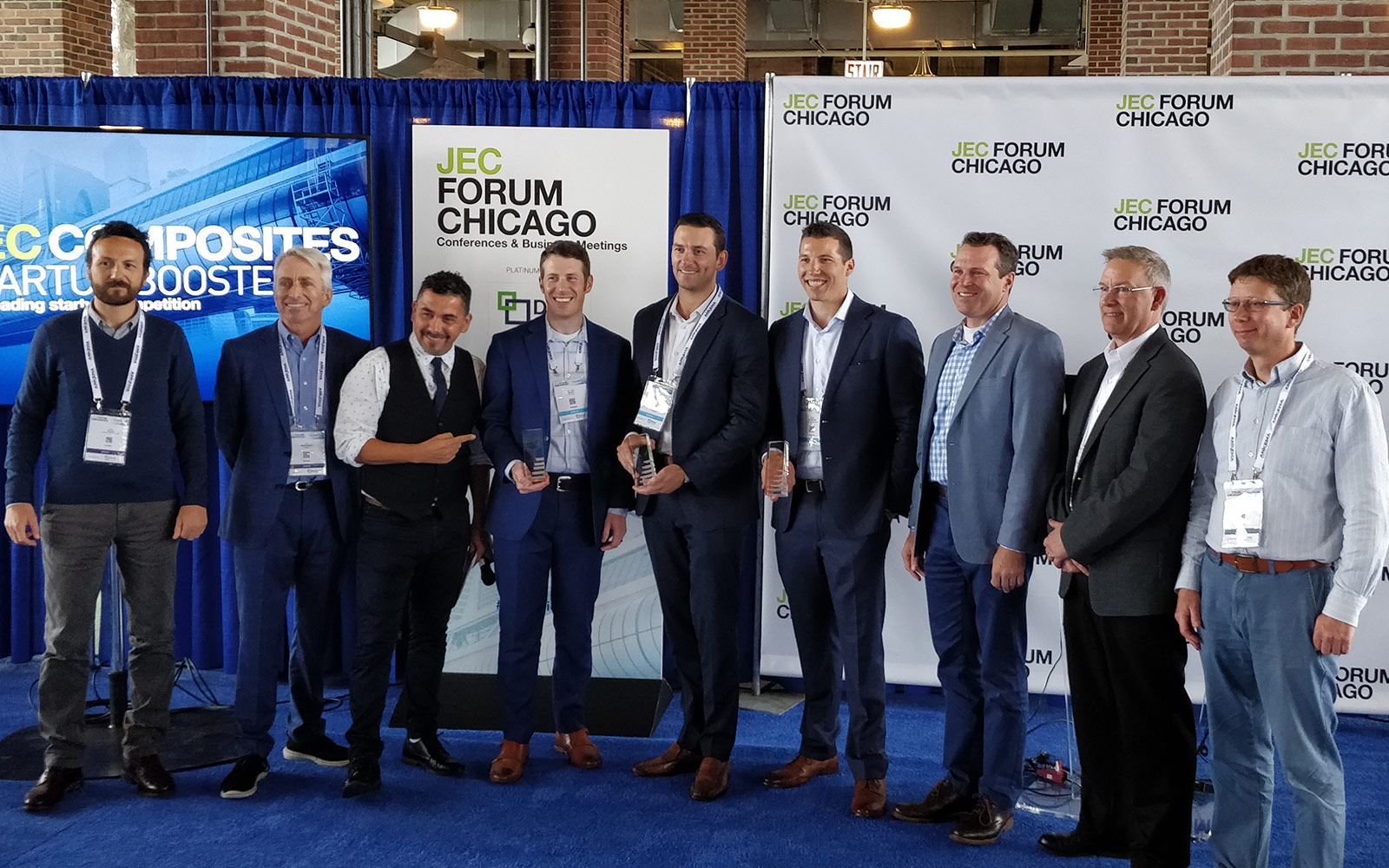 Picture of all winners of the 2019 JEC Innovation Awards