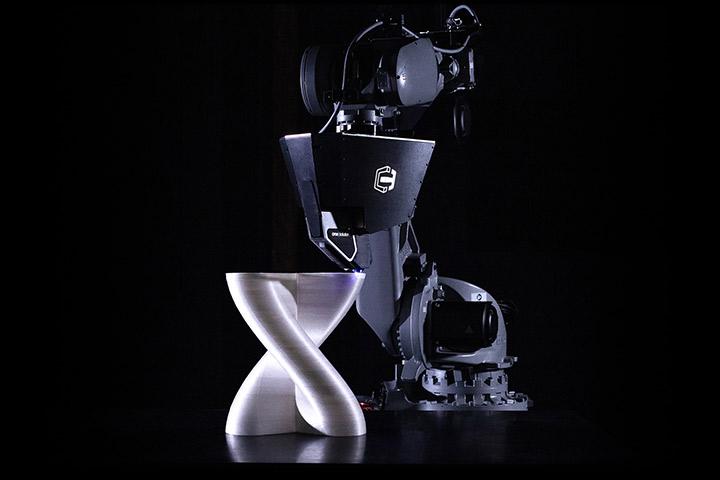Printing fiberglass spiral figure 8 with CF3D® technology