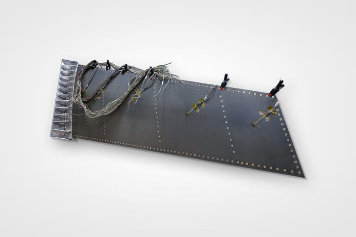 Showing the complete wing box for the Low Cost Attritable Aircraft Wing
