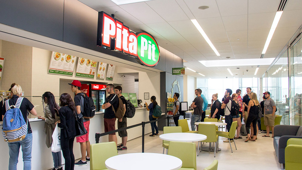 Interior of Pita Pit restaurant