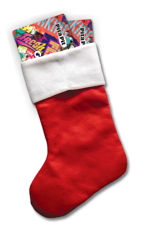 Christmas gift card stocking