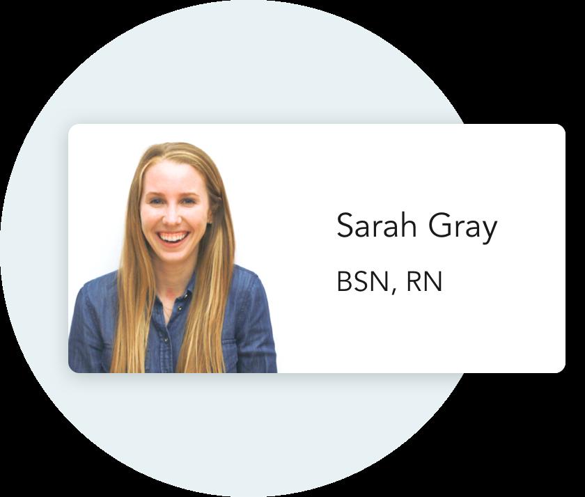 RN Sarah Gray
