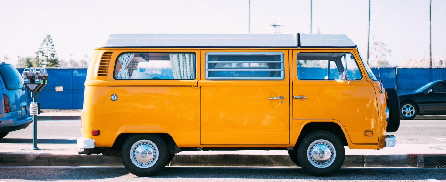 orange van travel nursing new grad nurse living in a van or RV