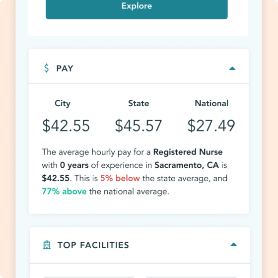 Trusted Health Explorer Salary Screen
