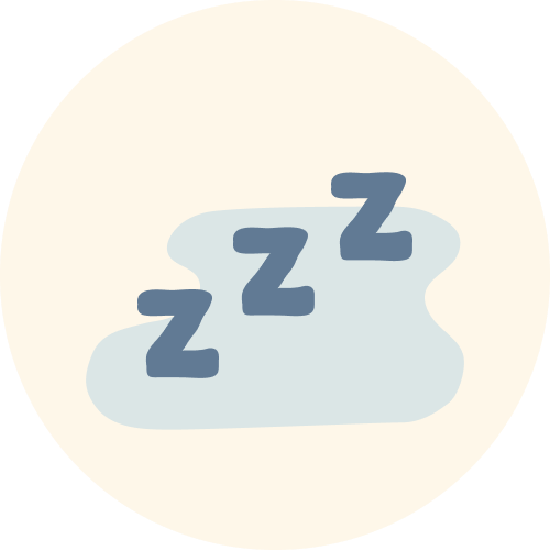 "clouds with sleeping ""z's"" icon"