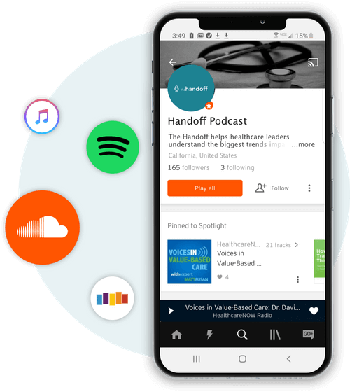 mobile phone with trusted health sound cloud profile