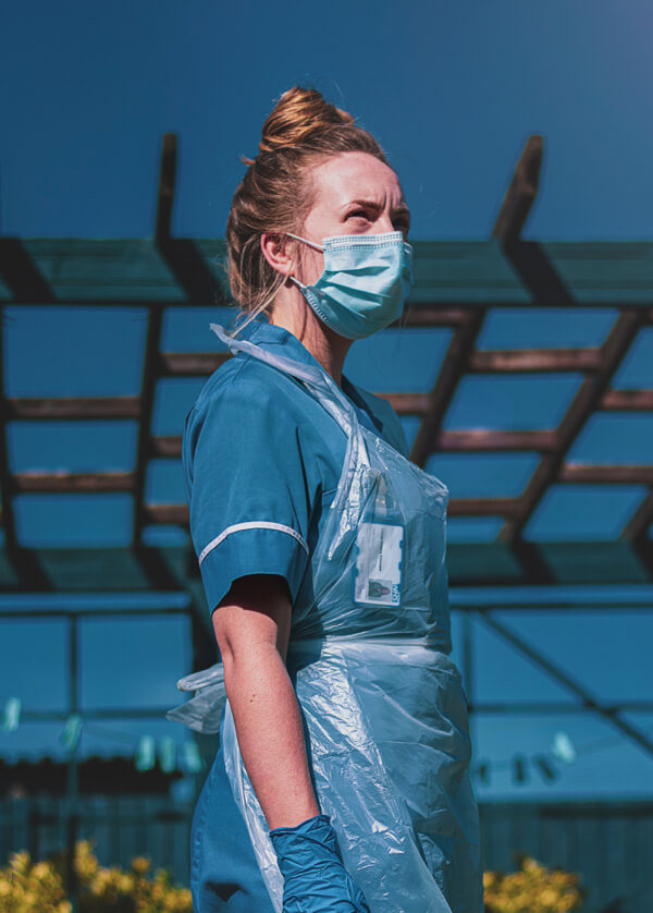 nurse with mask on