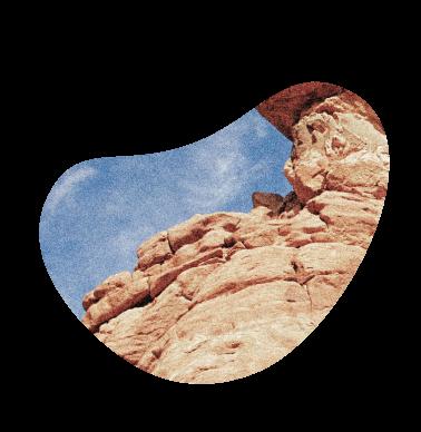 Desert cliff framed in a blog shape