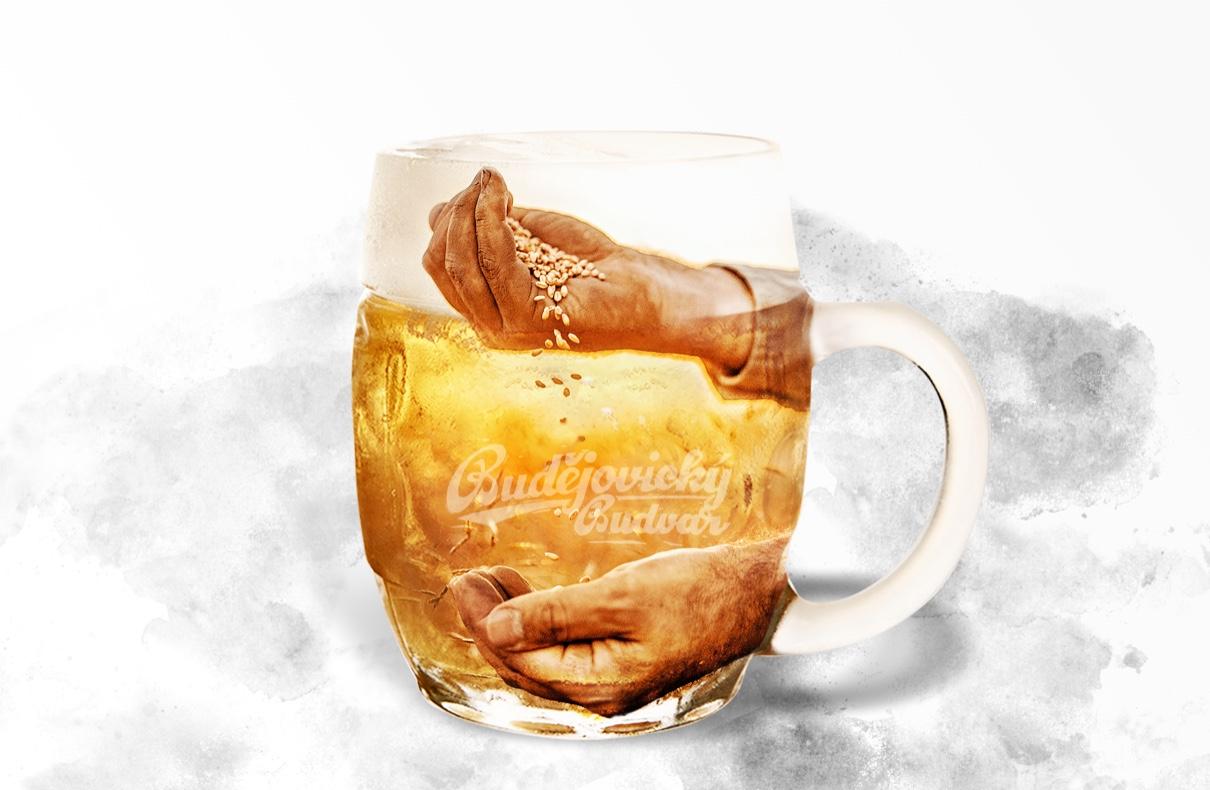 Obrázek půlitru piva Budvar